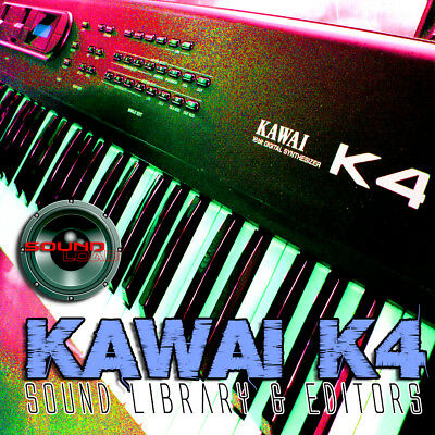 KAWAI K4/K4r HUGE Original Factory & New Created Sound Library & Editors on CD
