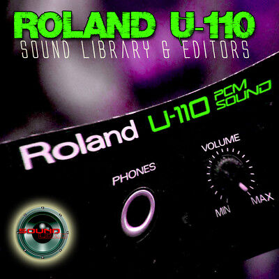 for ROLAND U-110 Original Factory and New Created Sound Library & Editors on CD