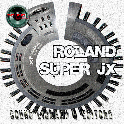 for ROLAND Super JX Original Factory & NEW Created Sound Library & Editors on CD