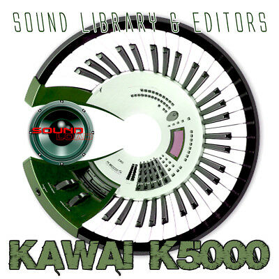 KAWAI K5000 HUGE Original Factory & New Created Sound Library & Editors on CD