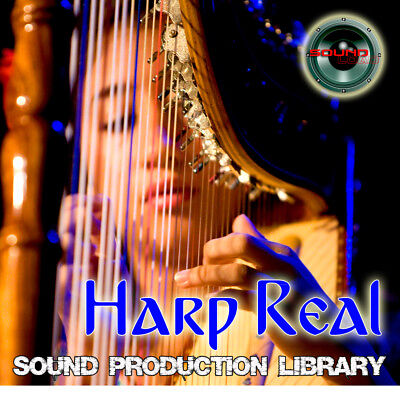 HARP REAL PLATINUM - Large Original WAV/KONTAKT Multi-Layer Samples Library DVD