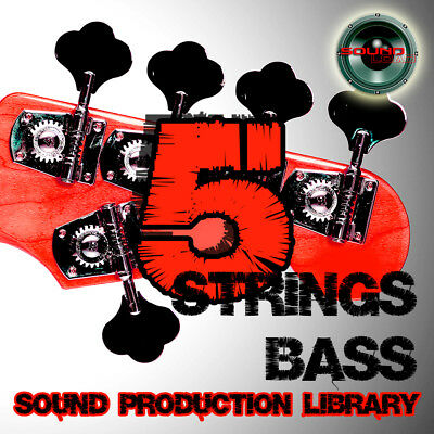 5 Strings Bass Guitar- large original Multi-Layer Studio Samples Library on DVD