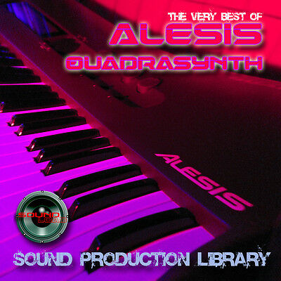 ALESIS QUADRASYNTH - HUGE Original WAVE/KONTAKT Multi-Layer Samples Library DVD