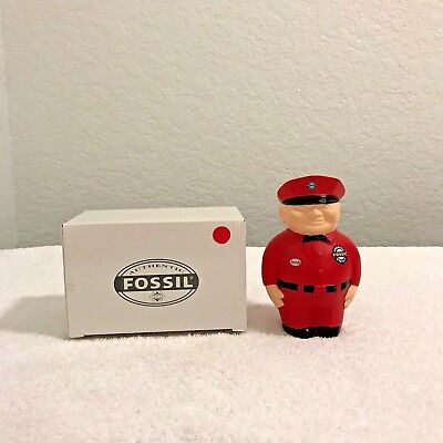 Fossil Advertising Speedy Fat Man Gas Station Attendant Bank NEW IN BOX