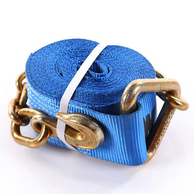 """4""""x30' Winch Strap With The Chain and Clevis Hooks"""