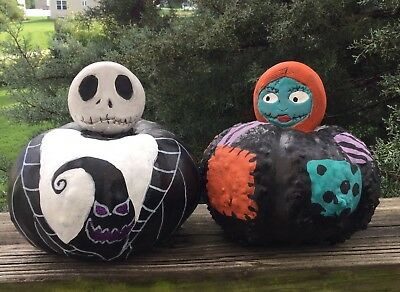 Nightmare Before Christmas Pumpkin King Sally Halloween Gourd Set