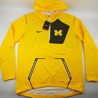 c1efdfa213e1 Nike Michigan Wolverines Alpha Fly Rush Mens 1 4 Zip Pullover Hooded Jacket   160