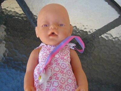 Zapf Creation Baby Born Doll comes with dummy used condition