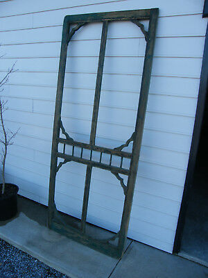 Antique Vintage Ornate Screen Door Frame