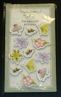 Hallmark Marjolein Bastin Thumbtacks Flowers, Bees Butterflies Sealed In Package