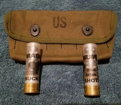 U.S. Issue Mil-Spec 12ga OD Shot Shell Pouch -  capacity 12rd