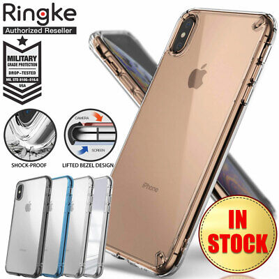 iPhone XS Max XR X Case Genuine Ringke Fusion Clear Slim Cover For Apple
