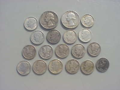 Lot of Silver Dimes and Quarters