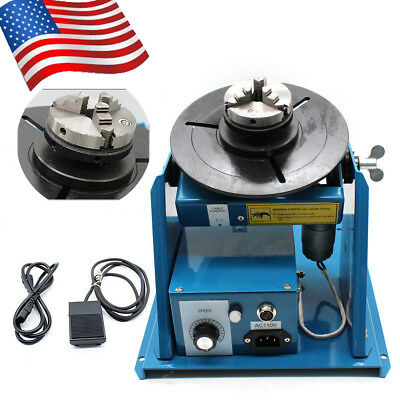Welding Expert Rotary Welding Positioner Chuck Turntable Table Lathe 2-16 R/Min