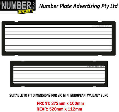 Number Plate Cover VIC / WA - Mini / Baby Euro Clip On - pinstripe lines