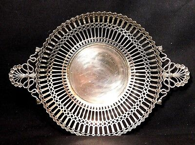 Tiffany Sterling Silver Reticulated Handled Bowl 1702 9A 5727 101 grams
