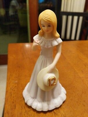 Enesco Growing Up Blonde Girl 12