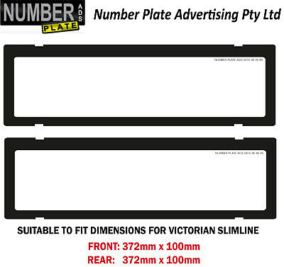 Number Plate Cover VIC Slimline - Clip On - No Lines