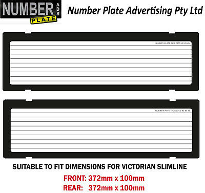 Number Plate Cover VIC Slimline - Clip On - Lines