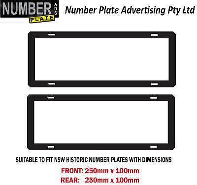 Number Plate Cover NSW Historic - Clip On No Lines