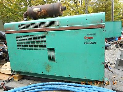 ONAN 15KW, 4 Cyl. Tri-Fuel Generator, Air Cooled, Used