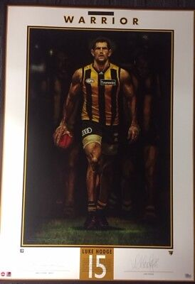 Luke Hodge Hand Signed Hawthorn Warrior Limited Edition Cooper Painting Print