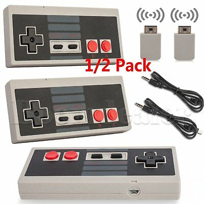 2xWireless Game Controller Gamepad for NES Classic Edition Nintendo Mini Console