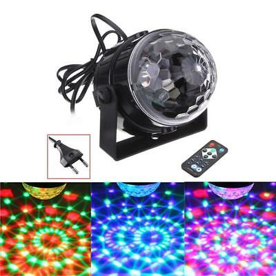 AU Disco Party DJ LED RGB Stage Effect Light Lamp Laser Crystal Magic Mini Ball