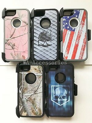 Camo Case For Apple iPhone 5/5S/SE With (Clip Fits Otterbox Defender series)