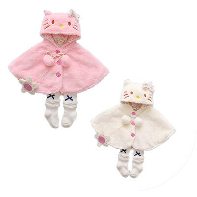 Newborn Baby Girls Hooded Cloak Poncho Jacket Outwear Kids Warm Coat Top Clothes