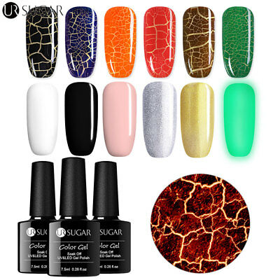 UR SUGAR Luminous Crackle Gel Polish Soak-off UV Gel Nail Art Gel Varnish 7.5ml