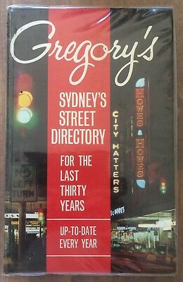 Vintage 1965 Gregory's Sydney Street Directory 30th De Luxe Edition Ampol Maps