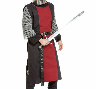 MEDIEVAL Accessories Clothing FANTASY Red&Black Men TUNIC TABARD LAR