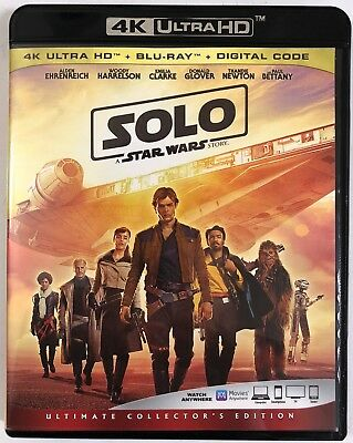 Solo A Star Wars Story 4K Ultra Hd 2 Disc Set Free World Wide Shipping Buy It