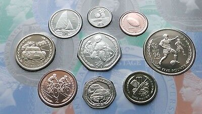 1996. Isle Of Man, Extremaly Rare 9. Coin Collection -Sporting Change. BUNC.