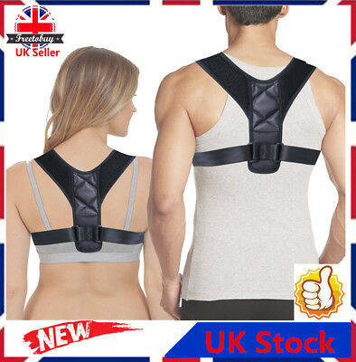 UK BodyWellness Posture Corrector Back Shoulder Support Brace Belt Unisex RT4C