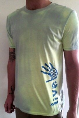 Large Green Yellow Heat Activated Tshirt Hypercolour Retro Cotton Printed