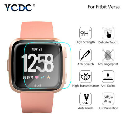 9H Hardness Arc 2.5D Tempered Glass Screen Protector 0.26mm For Fitbit Versa
