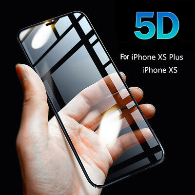 2Pcs For iPhone Xs Max XR 5D Curved Tempered Glass Screen Protector Guard Film