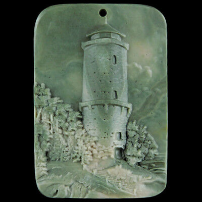 Carved Light Tower Bead C EJ514023