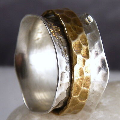 Wide WAVE SPINNER Size US 8 SILVERSARI Fidget RING Solid 925 Stg Silver SPR1013