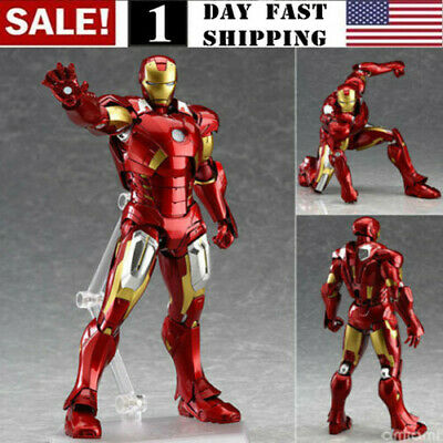 Figma 217 Iron Man Mark 7 The Avengers Marvel Anime Figure Model Toy Gift