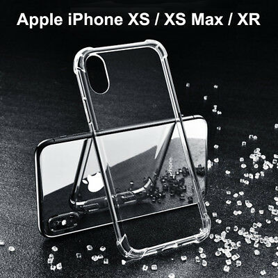 For iPhone XS Max XS Case Silicone Shockproof Bumper Crystal Clear Back Cover