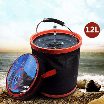 12L Collapsible Bucket Portable Folding Barrel for Car Boating Camping Fishing