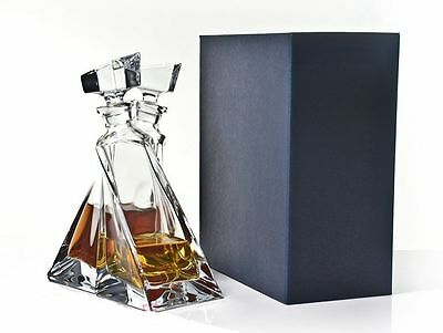 "Clear Bohemian Crystal Glass ""Lovers""  Decanter Gift Set, Transparent"