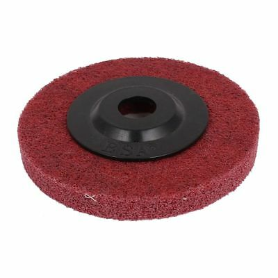 100mmx16mmx12mm Nylon Polishing Wheel Red for Angle Grinder Red Black Y3M8
