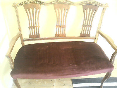 antique  two seater mahogoney