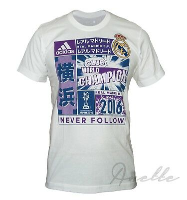 c9d4fca79 adidas REAL MADRID New Men's T-Shirt OFFICIAL LICENSED PRODUCT Short Sleeve  BNWT