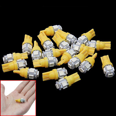 20 Pcs Bright T10 W5W 5 LED 5050-SMD Vehicle Car Tail-Light Bulb Lamp Orange