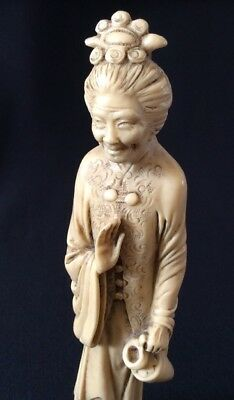 """Vintage Chinese Old Woman / Lady 10"""" Figure. Resin."""